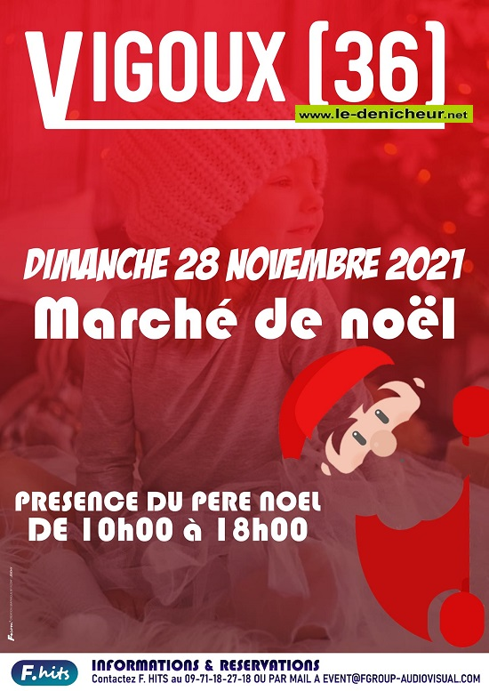 w28 - DIM 28 novembre - VIGOUX - Marché de Noël * 0013219