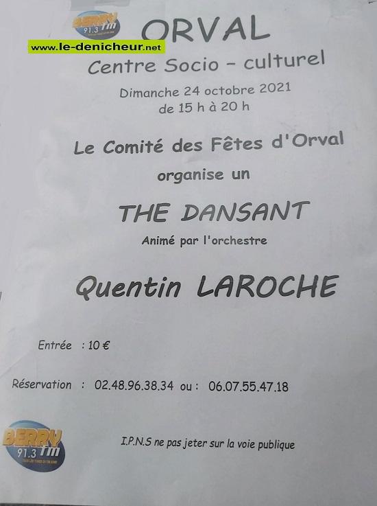 v24 - DIM 24 octobre - ORVAL - Thé dansant avec Quentin Laroche */ 0013229