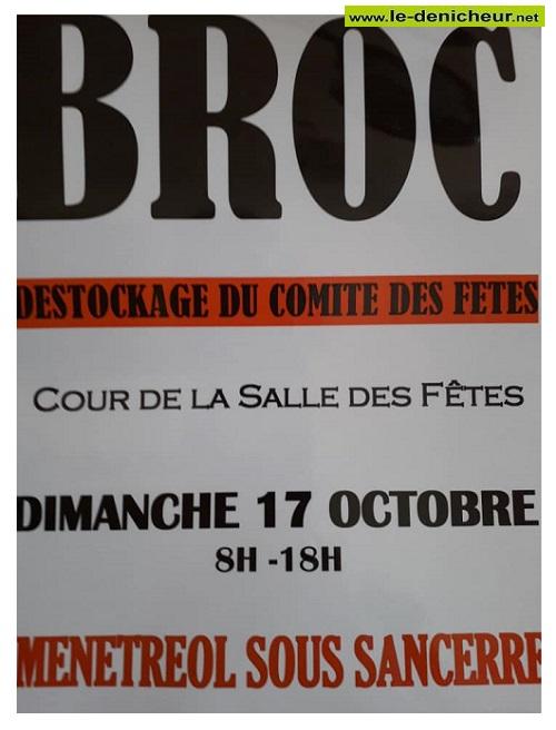 v17 - DIM 17 octobre - MENETREOL sous Sancerre - Destockage du comité des fêtes * 0013242