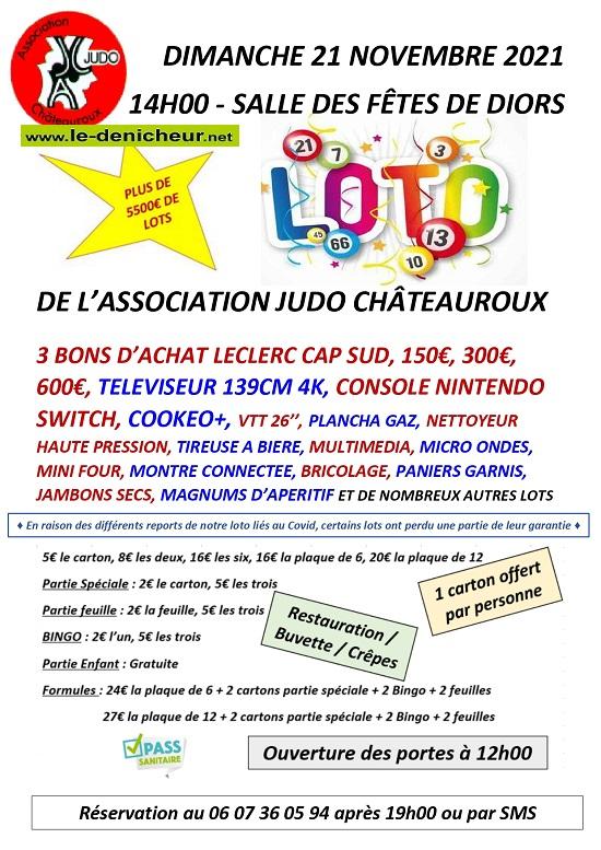 w21 - DIM 21 novembre - DIORS - Loto du Judo de Chateauroux */ 0013265
