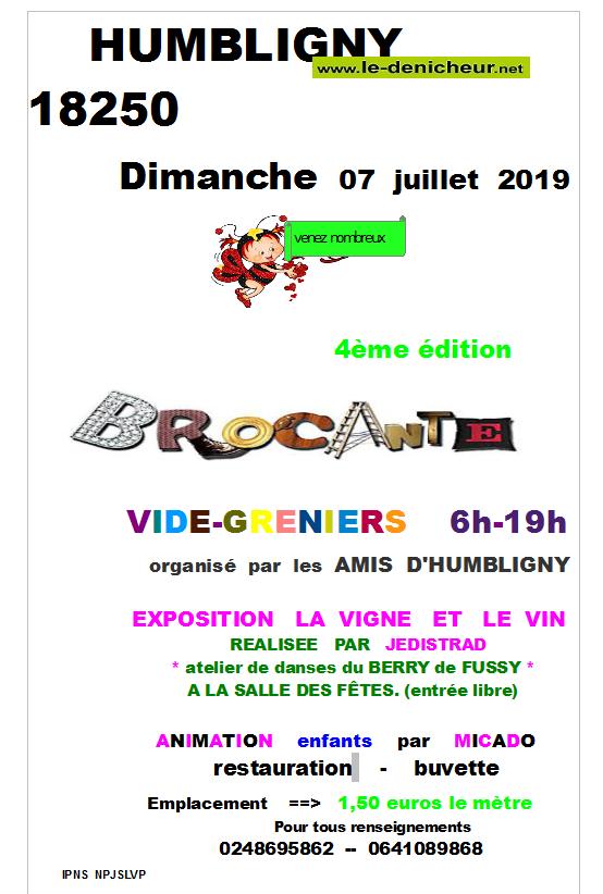 s07 - DIM 07 juillet - HUMBLIGNY - Brocante des Amis d'Humbligny _* 001615
