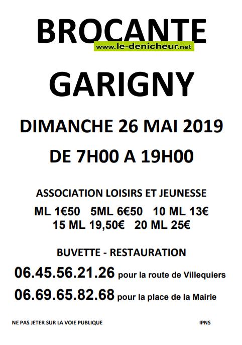 q26 - DIM 26 mai - GARIGNY - Brocante _* 001639