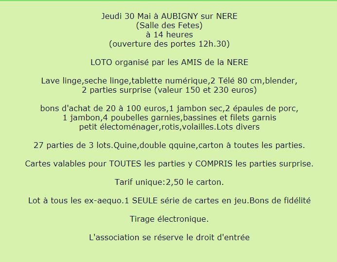 q30 - JEU 30 mai - AUBIGNY /Nère - Loto des Amis de la Nère */ 001685