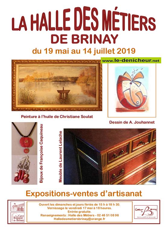 s14 - Jusqu'au 14 juillet - BRINAY - Expositions-ventes d'artisanat _* 001720