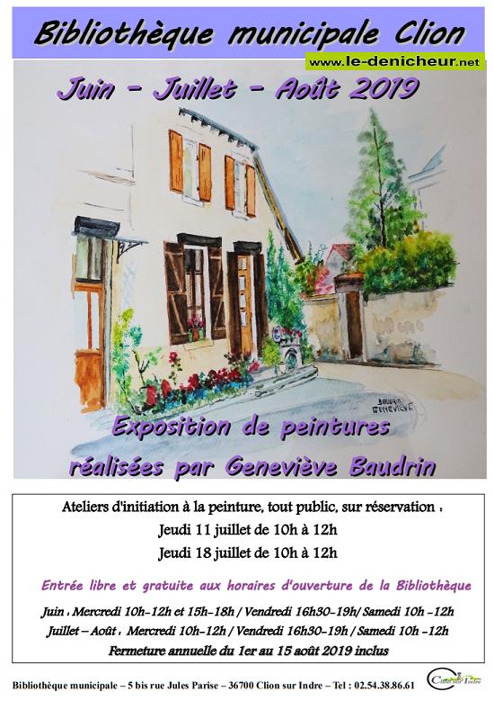 t31 - Jusqu'au 31 août - CLION /Indre - Exposition de peintures _* 001761