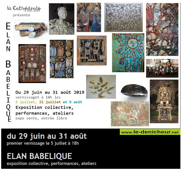 t31 - Jusqu'au 31 août - NEUVY DEUX CLOCHERS - Exposition collective _* 001856