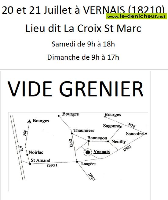 s21 - DIM 21 juillet - VERNAIS - Vide grenier chez particulier _* 001899