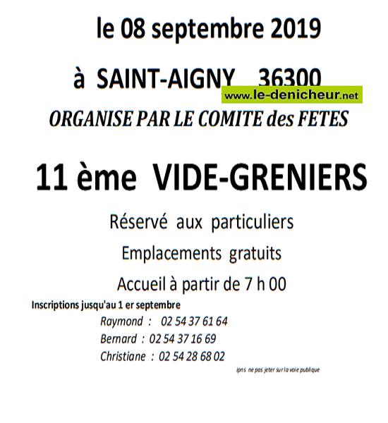 u08 - DIM 08 septembre - ST-AIGNY - Vide grenier du comité des fêtes .*/ 001969