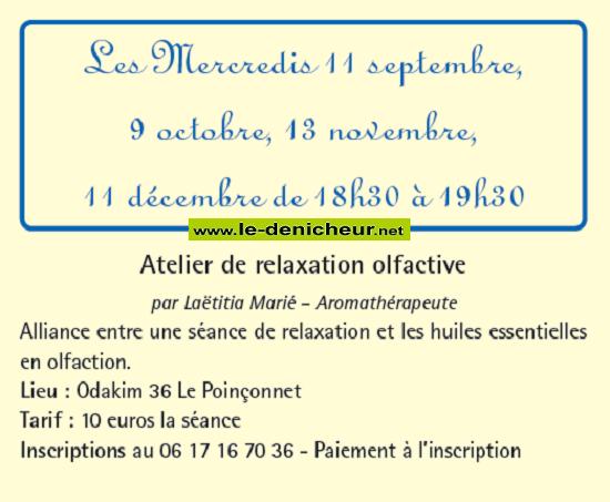 w13 - MER 13 novembre - LE POINCONNET - Atelier relaxation olfactive *: 001996