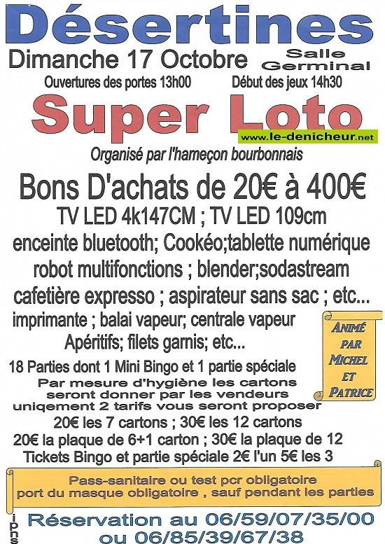 v17 - DIM 17 octobre - DESERTINES - Loto de l'Hameçon Bourbonnais */ 001_0313