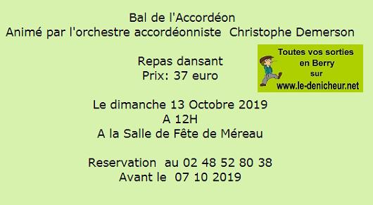v13 - DIM 13 octobre - MEREAU - Repas dansant avec Christophe Demerson / 001_213