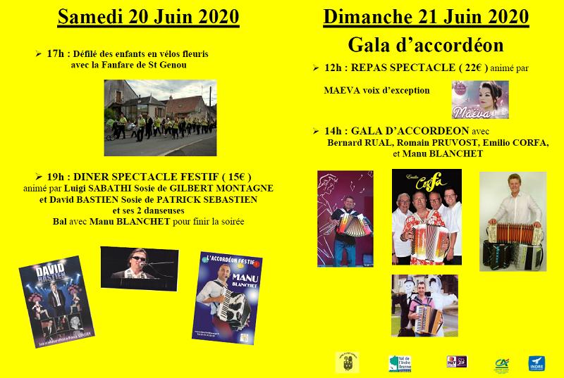 f20 - SAM 20 juin - ST-GENOU - Dîner spectacle annulé  */ 001_co16