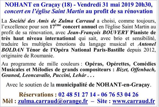 q31 - VEN 31 mai - NOHANT EN GRACAY - Concert en l'église */ 002137