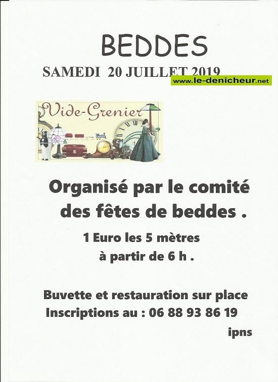 s20 - SAM 20 juillet - BEDDES - Brocante du comité des fêtes .*/ 002142