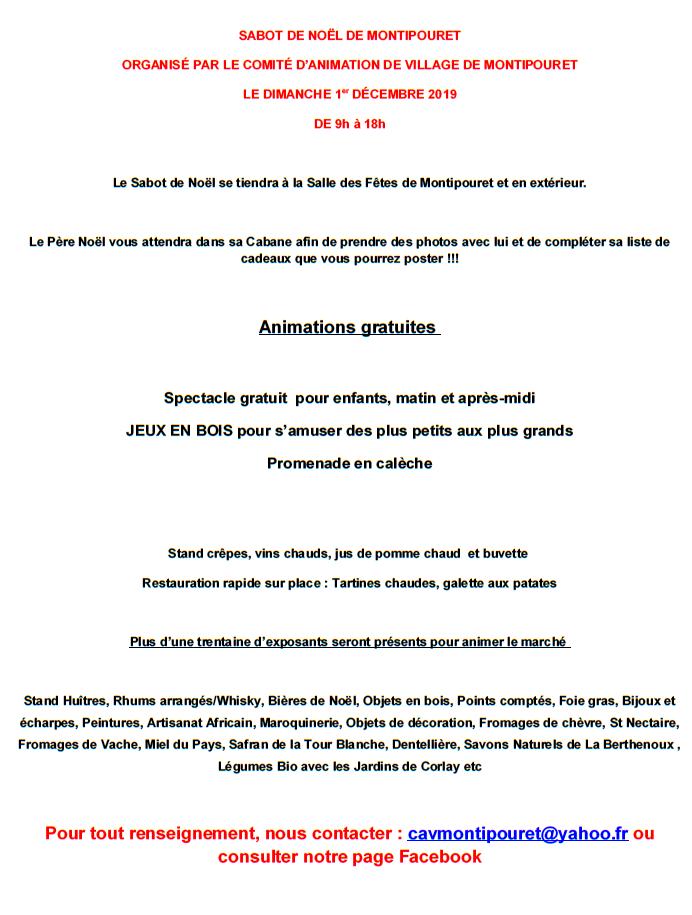 x01 - DIM 01 décembre - MONTIPOURET - Marché de Noël */  002151