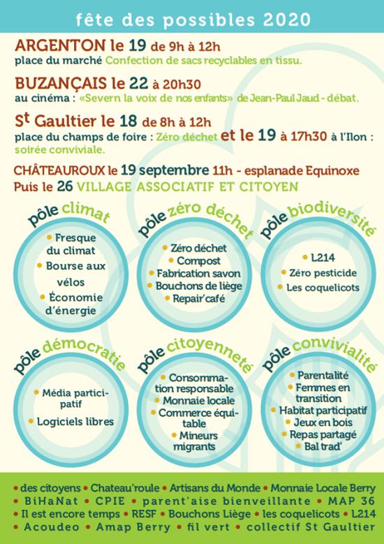 i19 - SAM 19 septembre - CHATEAUROUX - Fête des Possibles _* 002204