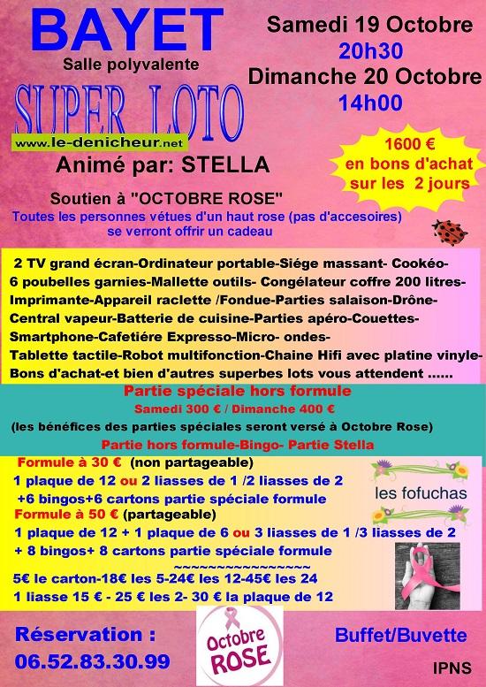 v20 - DIM 20 octobre - BAYET - Loto des Fofuchas */ 002217