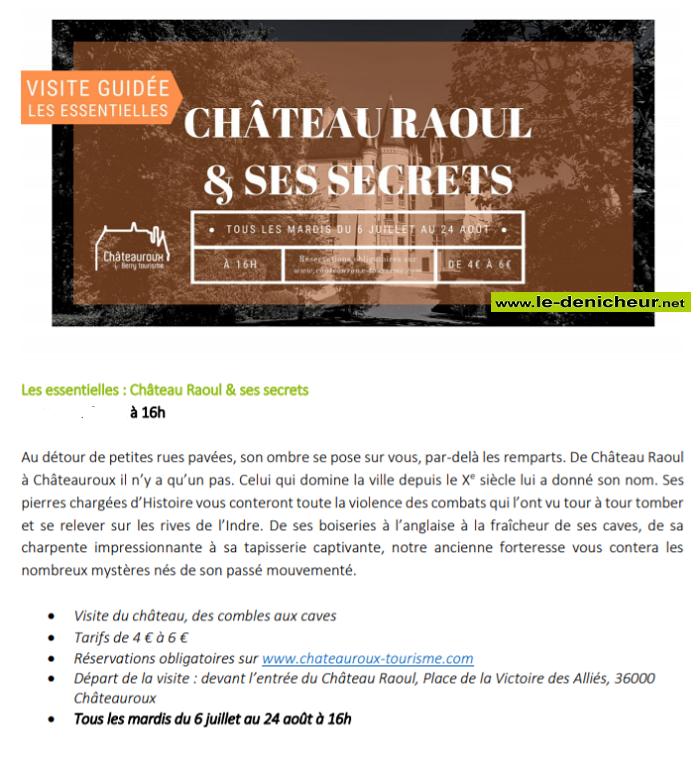 s27 - MAR 27 juillet - CHATEAUROUX - Chateau Raoul & ses Secrets _* 00223810