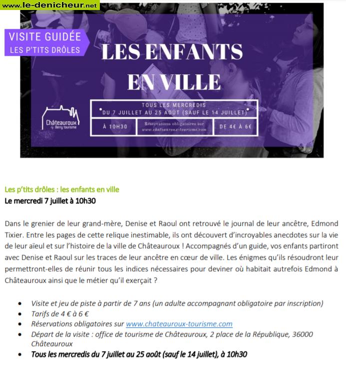 """s28 - MER 28 juillet - CHATEAUROUX - Visite guidée """"Les P'tits Drôles"""" 002239"""