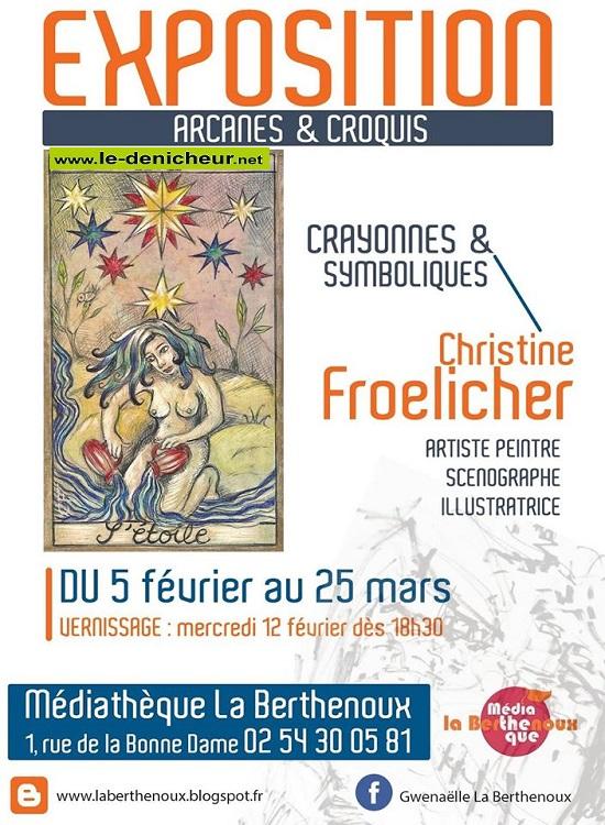 c25 - Jusqu'au 25 mars - LA BERTHENOUX - Arcanes et croquis (exposition) * 002267