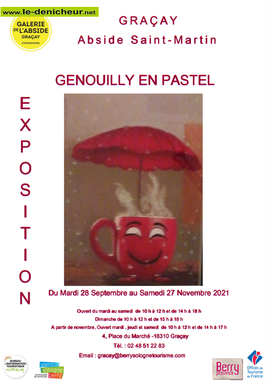 w27 - Jusqu'au 27 novembre - GRACAY - Genouilly en pastel _* 002275