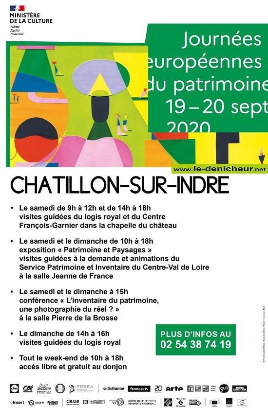 i19 - SAM 19 septembre - CHATILLON /Indre - Journées du Patrimoine * 002335