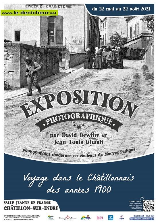 t22 - Jusqu'au 22 août - CHATILLON /Indre - Expo photos des années 1900 _* 002362