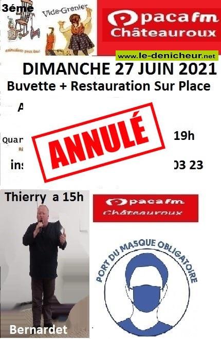 r27 - DIM 27 juin - CHATEAUROUX - Vide grenier de  radio paca fm ***Annulé*** 002371
