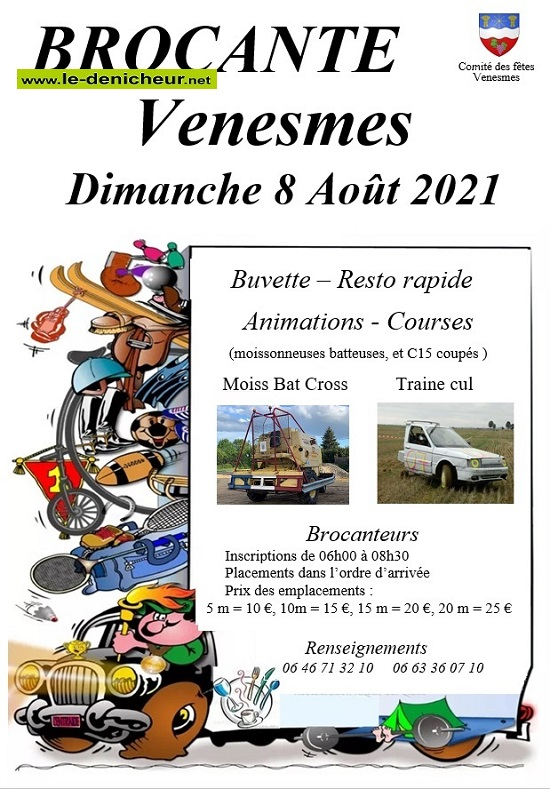 t08 - DIM 08 août - VENESMES - Brocante du comité des fêtes _* 002386