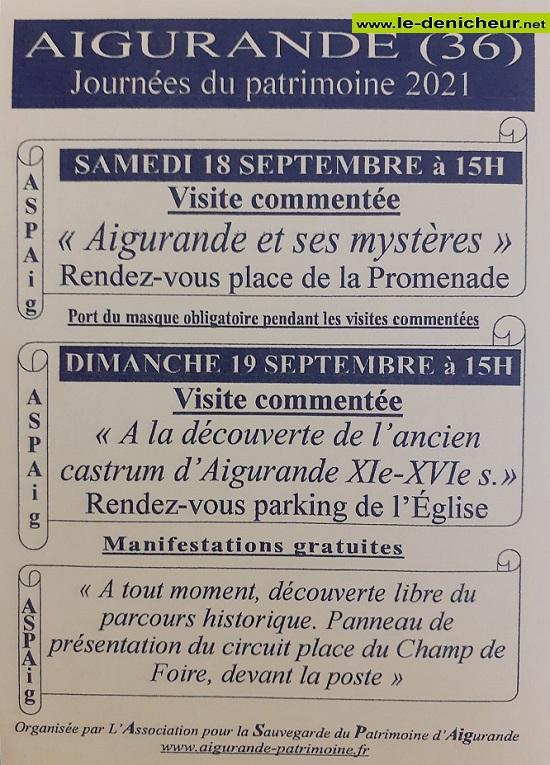 u19 - DIM 19 septembre - AIGURANDE - Journées du Patrimoine * 002512