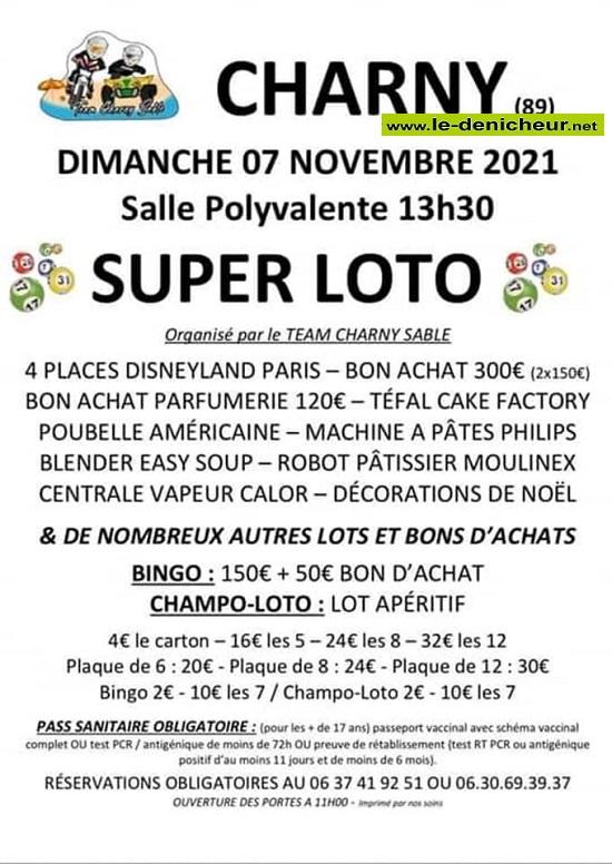 w07 - DIM 07 novembre - CHARNY - Loto du Team Charny Sable 002555