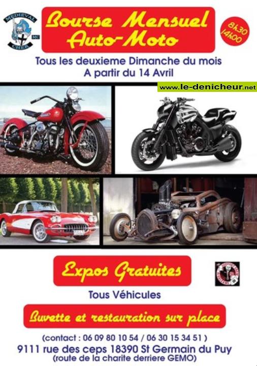 u08 - DIM 08 septembre - ST-GERMAIN DU PUY - Bourse Auto-Moto * 00278