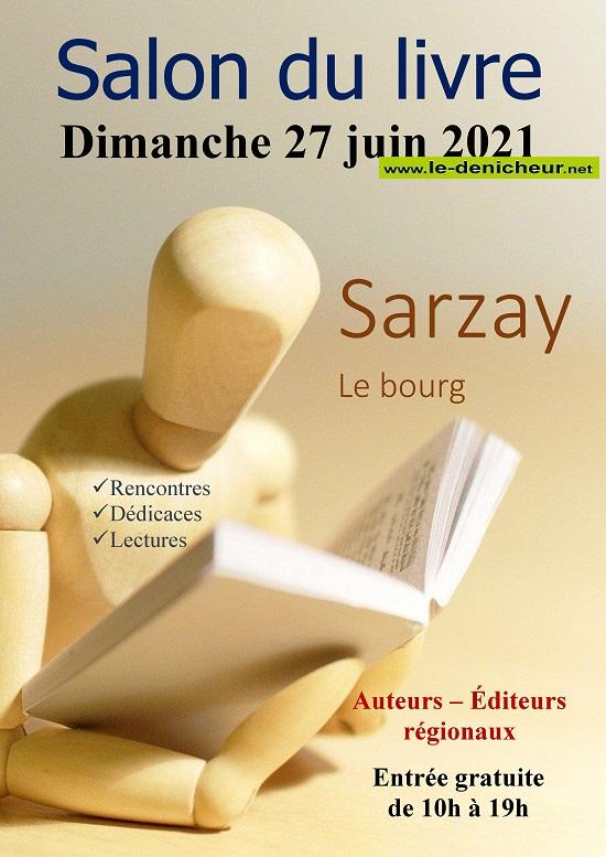r27 - DIM 27 juin - SARZAY - Salon du livre _* 003105