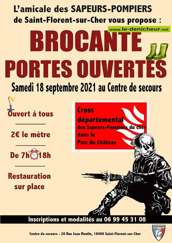 u18 - SAM 18 septembre - ST-FLORENT /Cher - Brocante des pompiers _* 003125