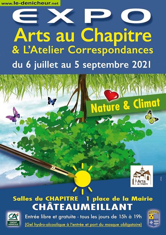 """u05 - Jusquau 5 septembre - CHATEAUMEILLANT - Expo """"Arts au Chapitre"""" 003131"""
