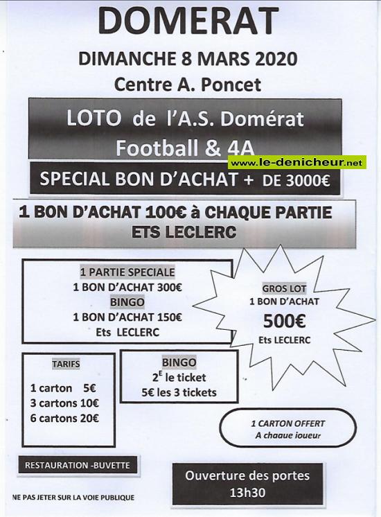 c08 - DIM 08 mars - DOMERAT - Loto du foot */ 00350