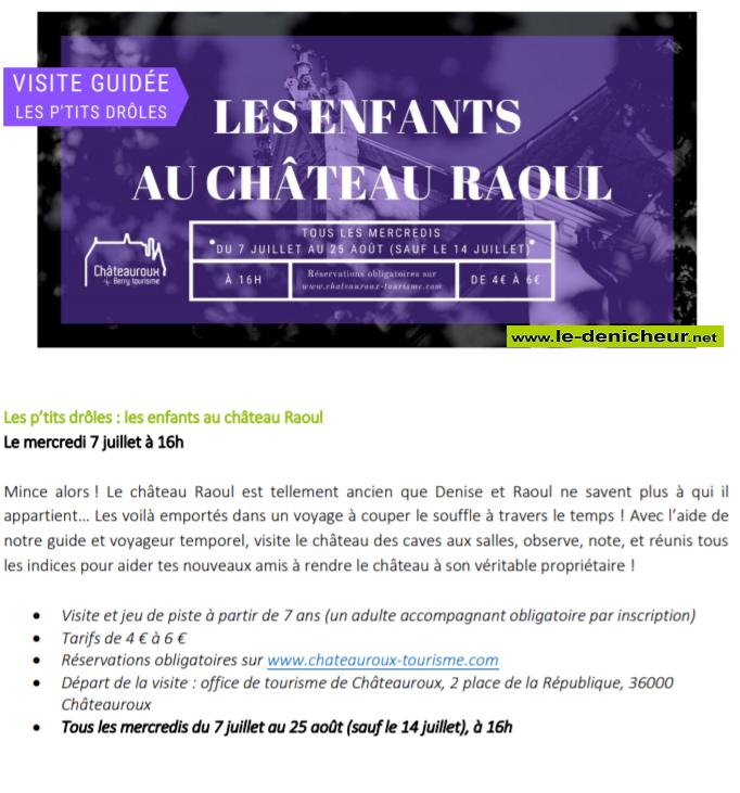 s28 - MER 28 juillet - CHATEAUROUX - Les enfants au Château Raoul (visite guidée) 00359