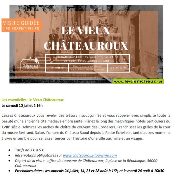 t14 - SAM 14 août - CHATEAUROUX - Le Vieux Chateauroux  (Visite guidée) 00360