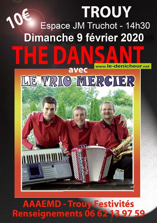 b09 - DIM 09 février - TROUY - Thé dansant avec le Trio Mercier .*/ 00377