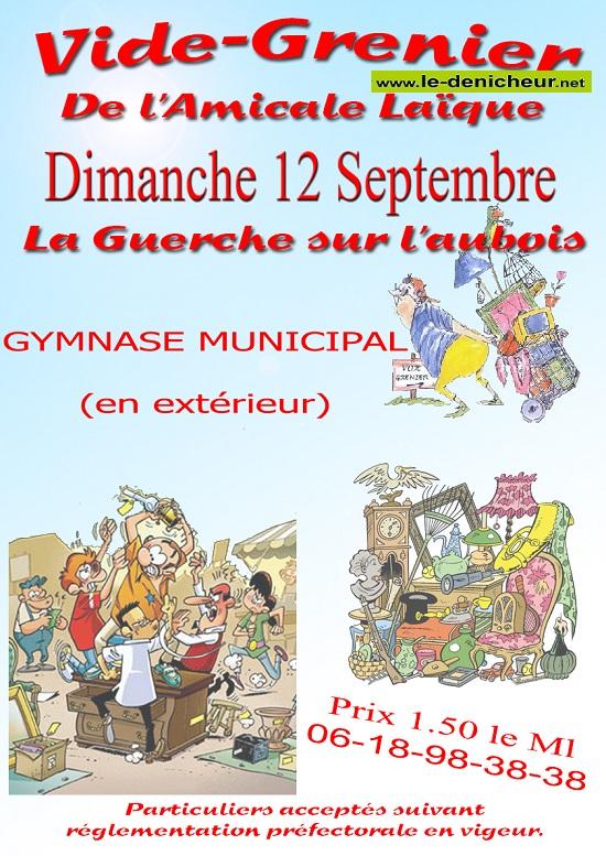 u12 - DIM 12 septembre - LA GUERCHE /L'Aubois - Vide grenier de l'Amicale Laïque_* 003_10