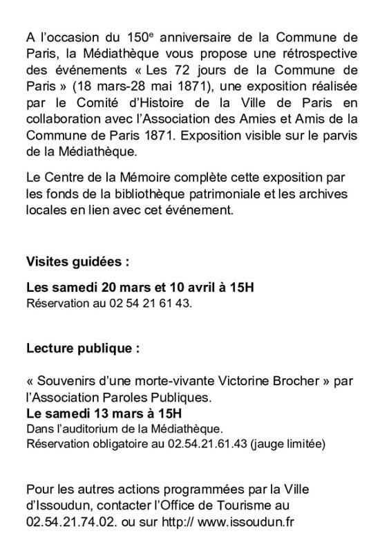 q29 - Jusqu'au 29 mai - ISSOUDUN - Expo: Les 72 jours de la commune de Paris 003_co10