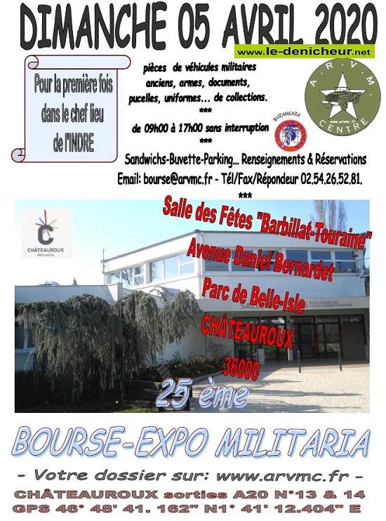 d05 - DIM 05 avril - CHATEAUROUX - 25eme Bourse aux Armes-militaria  / 004-0510