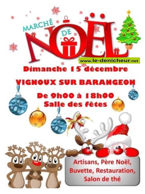 x15 - DIM 15 décembre - VIGNOUX /Barangeon - Marché de Noël * 00426