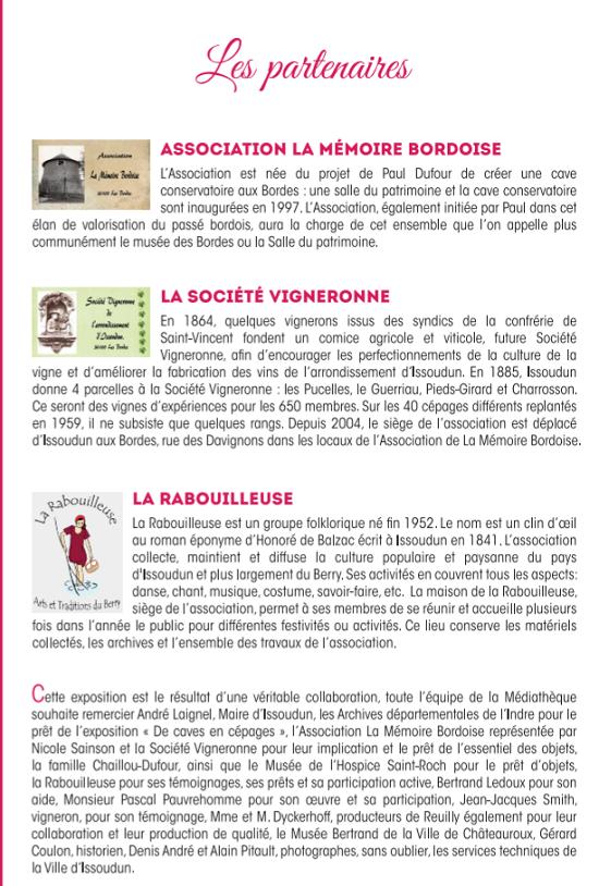"""u18 - Jusqu'au 18 septembre - ISSOUDUN - Exposition """"Vignes et vignerons d'ici"""" 00432"""