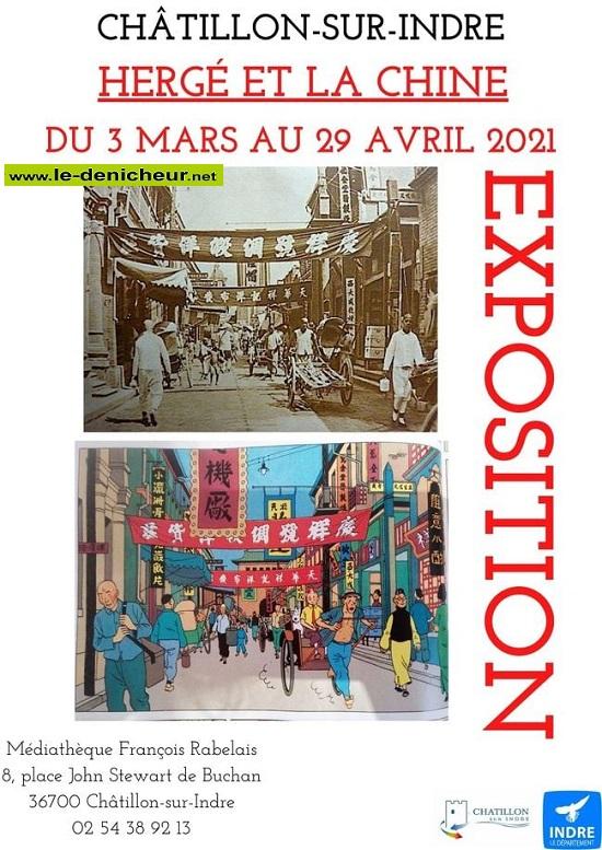 """p29 - Jusqu'au 29 avril - CHATILLON /Indre - Expo """"Hergé et la Chine""""  00438"""