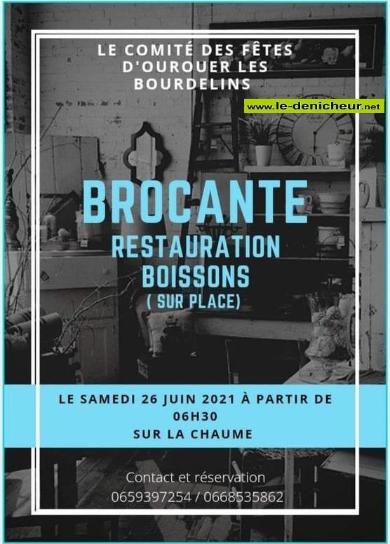 r26 - SAM 26 juin - OUROUER LES BOURDELINS - Brocante du comité des fêtes _* 00439
