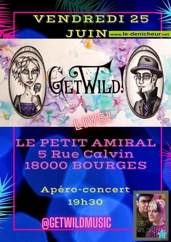 r25 - VEN 25 juin - BOURGES - Apéro concert avec Get Wild * 00441