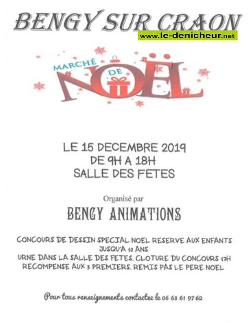 x15 - DIM 15 décembre - BENGY /Craon - Marché de Noël * 00518