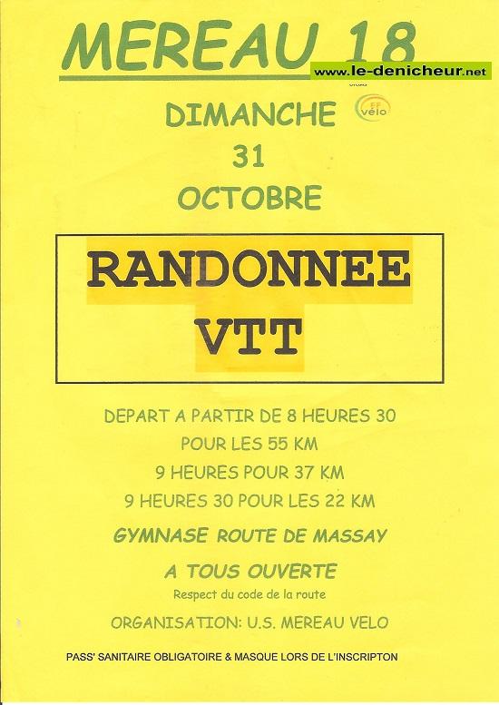 v31 - DIM 31 octobre - MEREAU - Randonnée VTT */ 00568