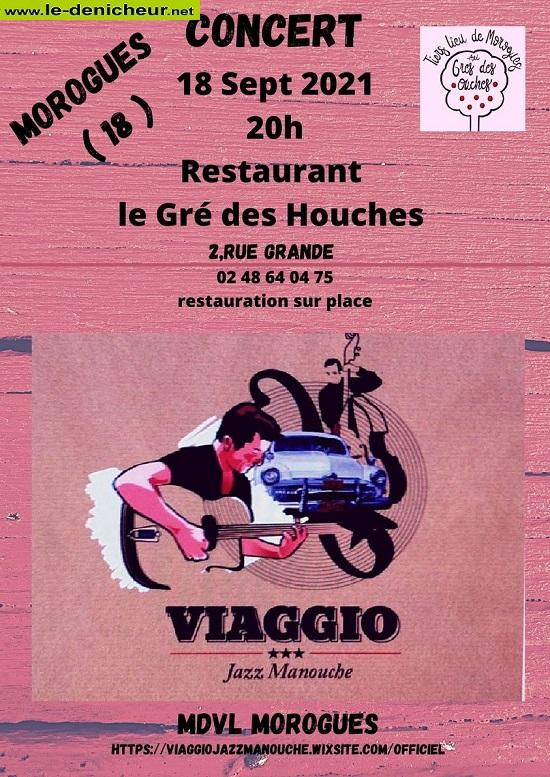 u18 - SAM 18 septembre - MOROGUES - Viaggio en concert * 00624
